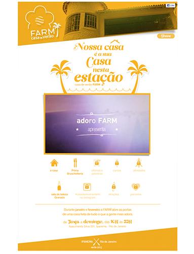 Soluções digitais e publicidade para as ações da Farm.