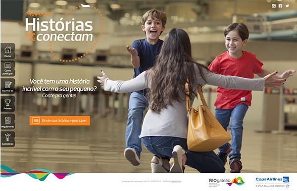 A promoção Histórias Que Se Conectam foi idealizada pelo Riogaleão e produzida pela Café das 4.  Desenvolvemos a logomarca, o site, quatro ensaios fotográficos e as campanhas de conteúdo e mídia digital.