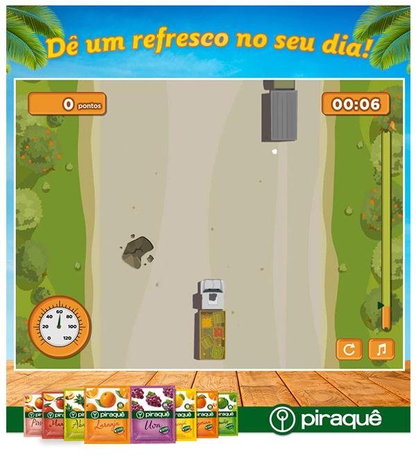 Desenvolvimento de um game para o lançamento dos Refrescos Piraquê.